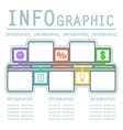 commercial infografic background vector image