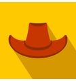 Cowboy hat flat icon vector image