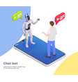 customer service isometric concept vector image