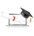 education online vector image vector image