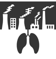environmental issues with lungs and air pollution vector image