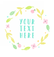 Floral laurel with place for text vector image vector image
