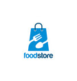 food store logo template designs vector image vector image