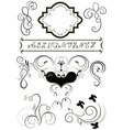 Frames and calligraphic ornaments for feel of page vector image vector image
