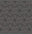 geometric f contour pattern on gray background vector image vector image