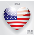 Glass heart flag vector image vector image