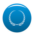 glory wreath icon blue vector image vector image