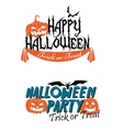 Happy Halloween themed graphics vector image vector image