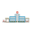 hospital building icon in flat style first aid vector image vector image