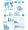 INFOGRAPHIC DEMOGRAPHICS POPULATION 3 BLUE vector image vector image
