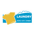 laundry service emblem vector image vector image