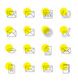 letter icons vector image vector image