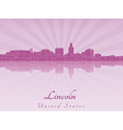 Lincoln skyline in radiant orchid vector image vector image