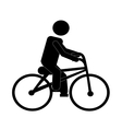 man riding bike vector image