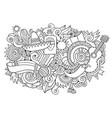 mexico hand drawn cartoon doodles vector image vector image