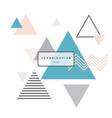 minimalist scandinavian background triangle vector image vector image