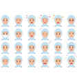 moslem woman various facial expressions set vector image