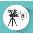 movie video camera film retro vector image vector image