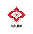 navigation - abstract logo template concept vector image
