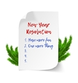 New year resolutions vector image