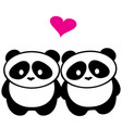 panda bear love vector image