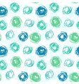 Pattern with brushed circles in spring colors vector image