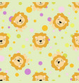 pattern with cute african lion vector image vector image