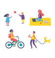 people and hobbies icons set vector image