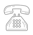 phone line icon vector image