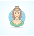 Queen princess royal penson icon vector image