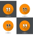 Quotation Mark vector image vector image