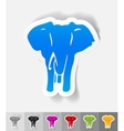 realistic design element elephant vector image vector image