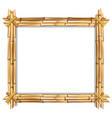 rectangle brown bamboo border frame with space vector image