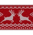Red knitted sweater with deer seamless pattern vector image vector image