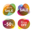 sale stickers set discounts and price reduction vector image vector image
