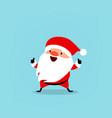 santa cute christmas character vector image