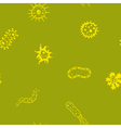 Seamless background with Bacteria vector image