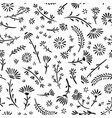 seamless pattern artistic background with flowers vector image vector image