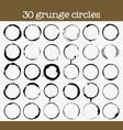 set 30 grunge circle textures vector image vector image