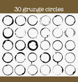 set of 30 grunge circle textures vector image