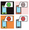 set of unusual look web icon of modern social vector image vector image