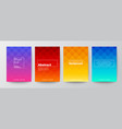 set rhombus pattern on colorful gradient vector image vector image