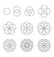 sexangle contour various sacred geometry set vector image vector image