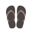 silhouette Beach flip-flops with brown bottom vector image vector image