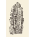 Skyscrapers Big City Architecture Vintage Engraved vector image vector image