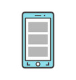 smartphone isolated linear icon vector image vector image