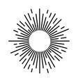 sunbeam lines drawn hand motion starburst vector image