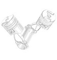 two pistons on a white background vector image vector image