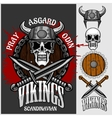 Viking emblem and logos plus isolated elements for vector image vector image