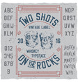 vintage label whiskey poster vector image vector image